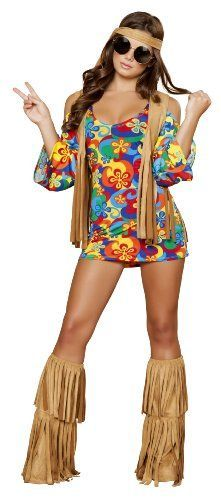 This is one of my favorite Sexy Halloween Costumes for Women  for Halloween 2017.  You can elevate this  ladies Halloween costumes with the right Halloween jewelry, Halloween makeup  and of course the right pair of Halloween shoes.   Overall one of the best sexy women's  Halloween Costume Idea      Roma Costume 3 Piece Hippie Hottie Costume, Multi/Brown, XX-Large