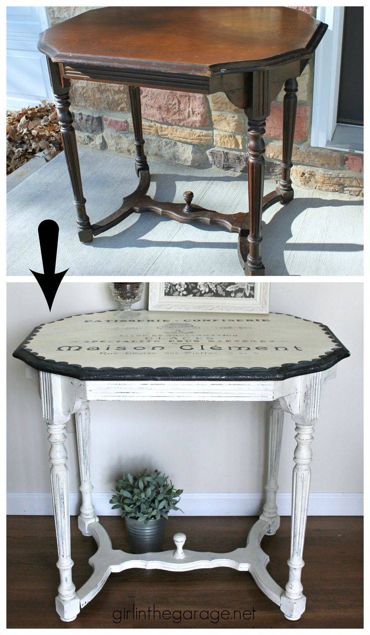 diy furniture refinishing projects. diy furniture refinishing projects. french patisserie table - antique makeover by girl in the garage projects r