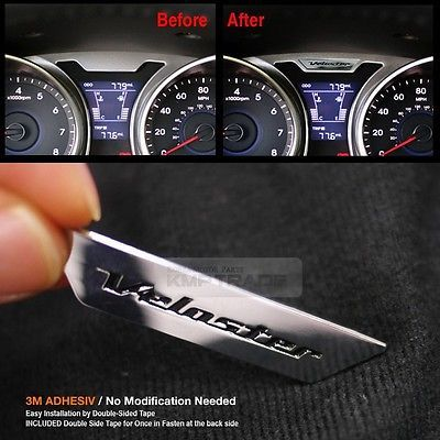 Cluster Point Chrome Emblem Interior Badge For Hyundai 2011 17 Veloster Turbo Interiors