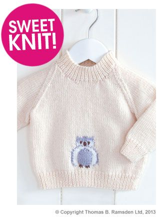 Owl Sweater Pattern Free Pattern from Deramores