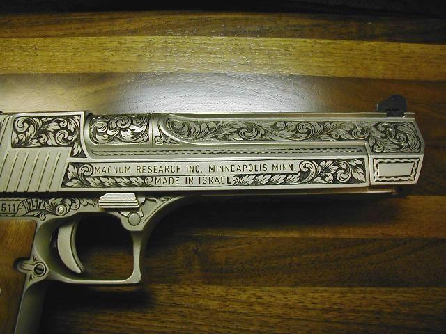 Desert Eagle 50 Cal. Love the engraving!
