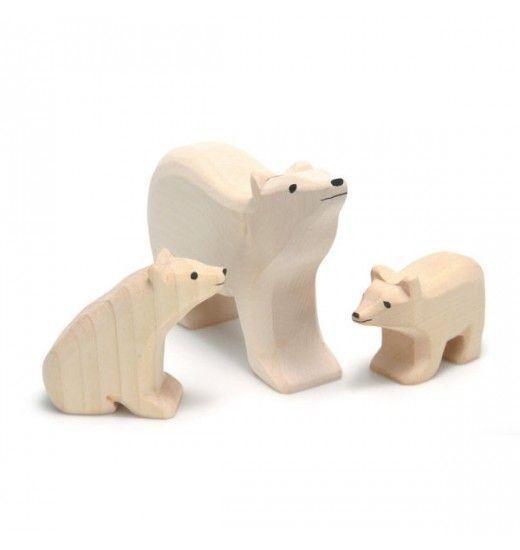 Wooden Polar Bear Set / Nova Natural
