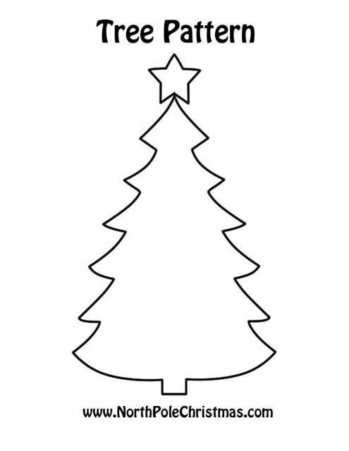 This is a graphic of Selective Printable Christmas Tree Pattern