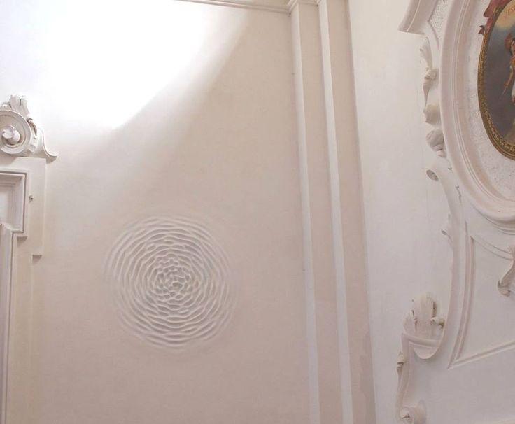 "Loris Cecchini - Wallwave vibration 2012 - Installation view of the group show ""Ever Present Past"" at Relais La Suvera in collaboration with Galleria Continua San Gimignano"
