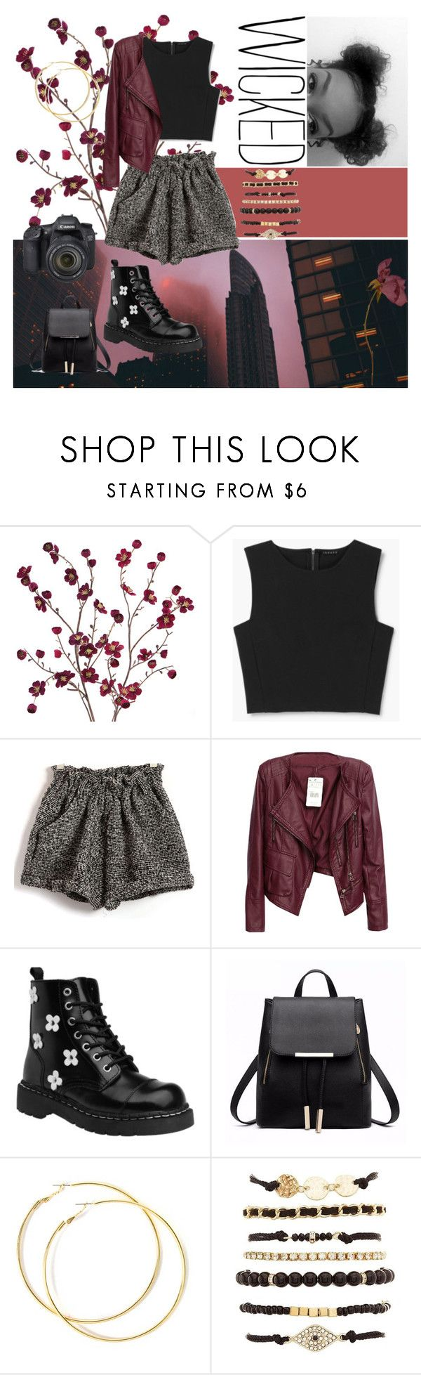 """""""Untitled #148"""" by prinutbutterjelly ❤ liked on Polyvore featuring Cost Plus World Market, Theory, T.U.K., Charlotte Russe and Eos"""