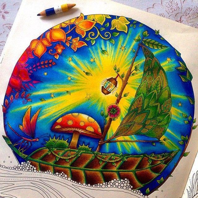 Floresta Encantada Barco Johanna Basford Coloring Book