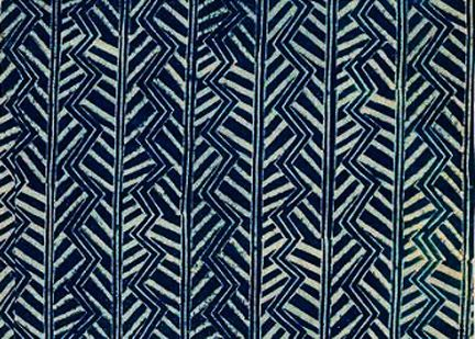 Block-printed indigo by Barron & Larcher   Mid 1920s   London     Phyllis Barron and Dorothy Larcher ran a London textile printing worksh...