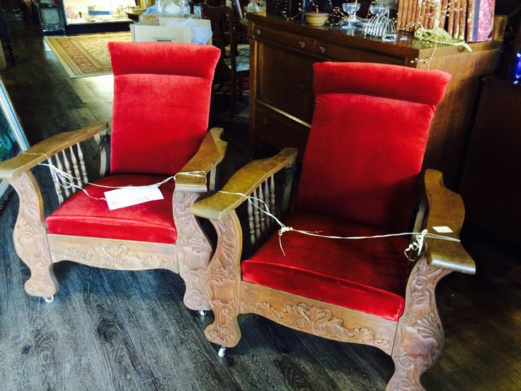 Antiques, 1880's-1890's, Morris Chairs, Antiques recliners, Over 100 years old! Matching set! Victorian,