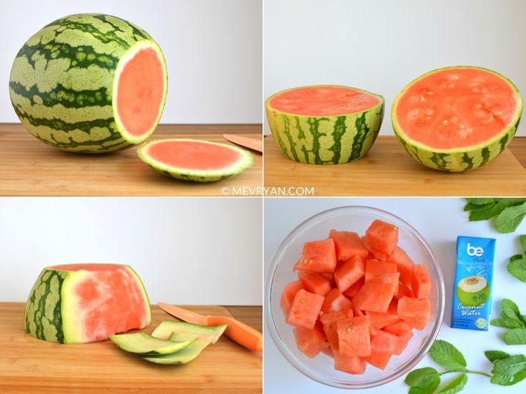 Hoe maak je watermeloen sap? Vind het recept op food blog mevryan.com  #watermeloen #Aziatisch #recepten #Tropisch #drankje #dorstlessend #verfrissend #zomer #limoensap