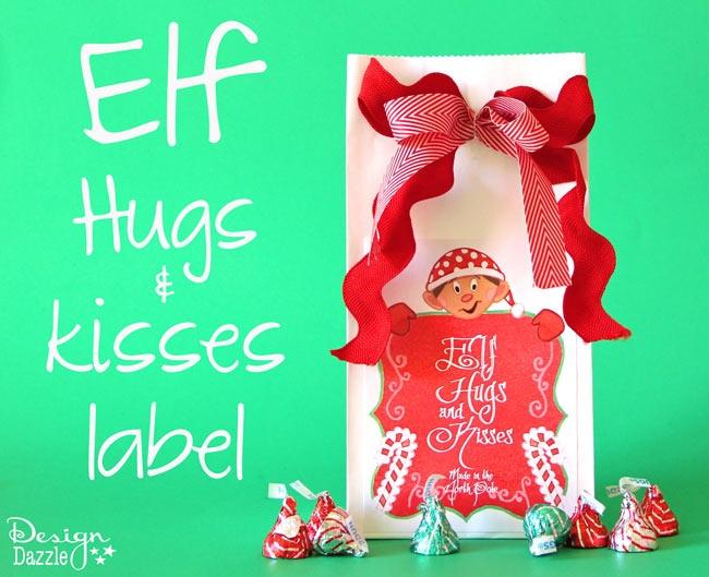Elf hugs and kisses label elf antics pinterest