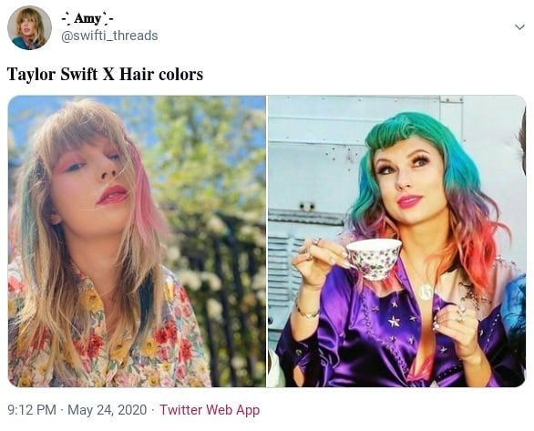 Taylor Swift X Hair Colors In 2020 Different Hair Colors Purple Hair Hair Color