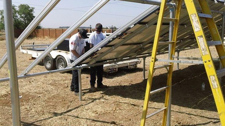 More Solar panels mounted ( Vacaville California HVAC Solano Napa Fairfield Benicia Vallejo Suisun Green Energy )