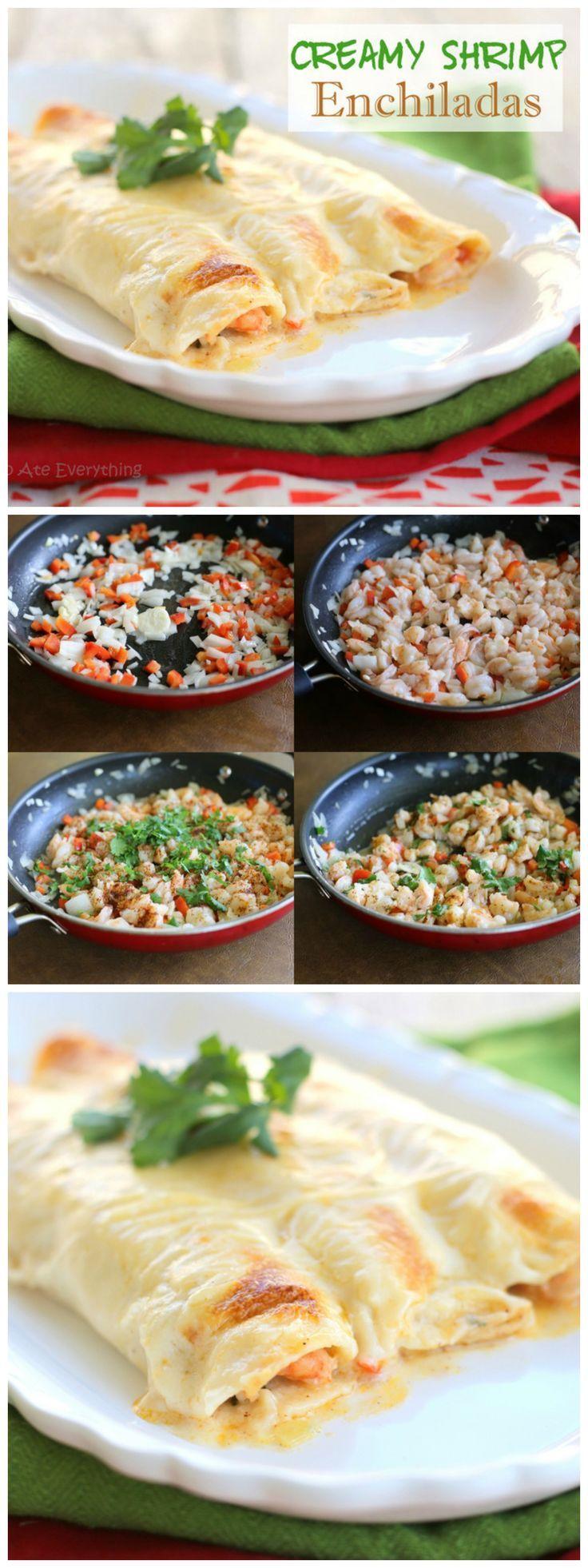 awesome Creamy Shrimp Enchiladas...