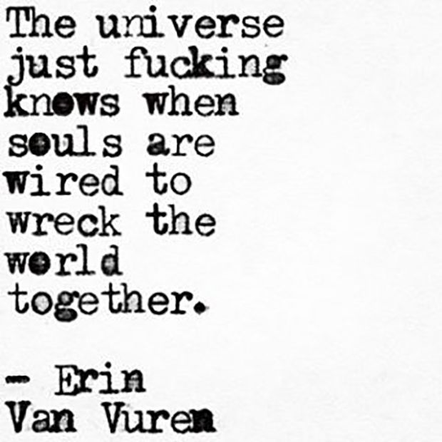 """On what it's like to find your soulmate. 