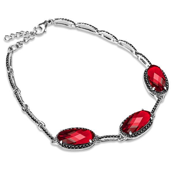 Bransoleta srebrna z cyrkoniami - Biżuteria srebrna dla każdego tania w sklepie internetowym Silvea #bransoletkasrebrna