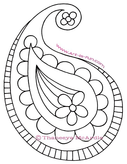 How to Draw Paisley: A Fun Easy Step-by-Step Drawing Lesson