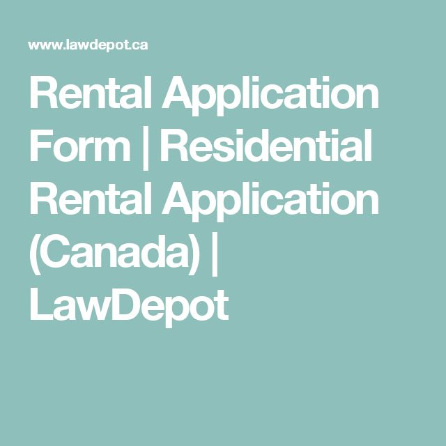 Rental Application Form | Residential Rental Application (Canada) | LawDepot