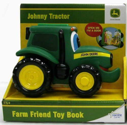 John Deer Farm Toybook (Sold Separately) by Tomy. $17.15. Toybook turns into tractor toy when closed.. Children will enjoy the double play value of this unique character vehicle/storybook from Ertl Preschool. Johnny Tractor is molded in soft plastic, and rolls on sturdy plastic wheels. The vehicle is also hinged, and opens to reveal a storybook that tells a tale of life on the farm with Johnny and his pals. This patented design makes a great toy both for playtime and qui...