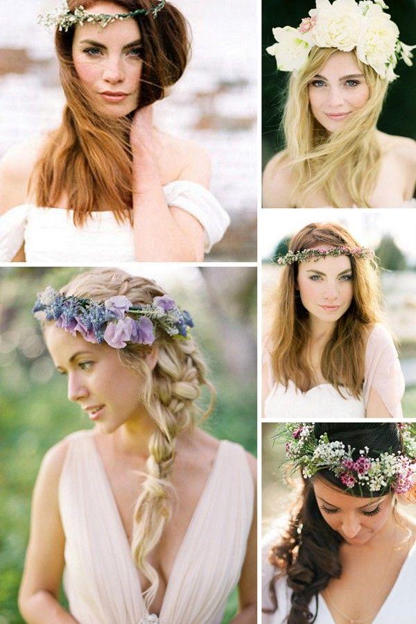 Haarkranz für die Hochzeit aus echten Blumen | Friedatheres