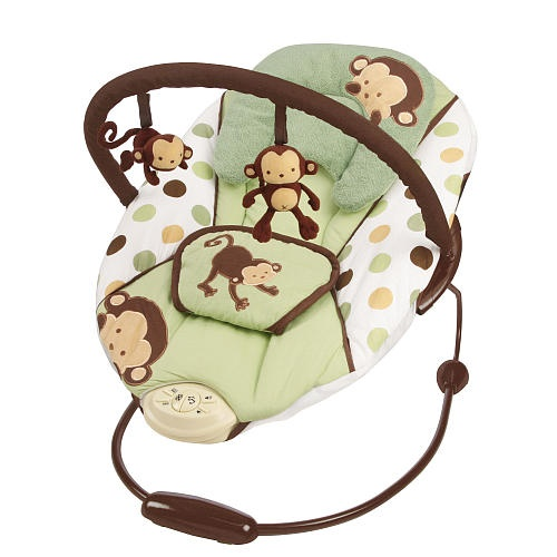 Sassy Mod Pop Monkey Bouncer Has Two Reclining Positions