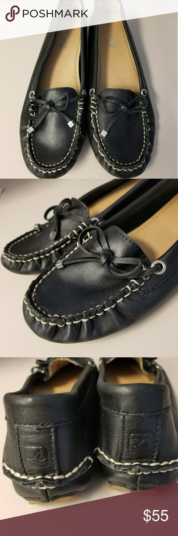 New Leather Sperry Loafers Brand new soft Black Leather Sperry Loafers ...only tried on..size 7M but fit more like a 6 to 6.5. Very comfy! Great for Fall!! FLAWLESS! Sperry Shoes Flats & Loafers