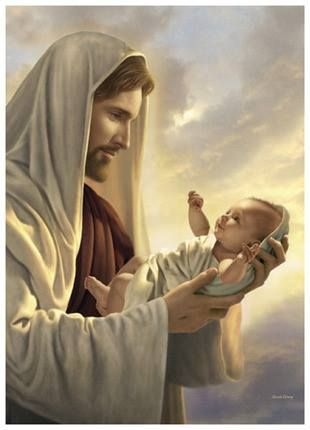 """...Verily I say unto you, Except ye be converted, and become as little children, ye shall not enter into the kingdom of heaven. Matthew 18:3 """"In his constant care"""" by Simon Dewey"""