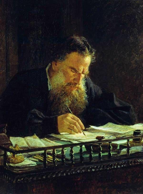 """Николай Ге. """"Портрет Толстого. 1884.""""."""