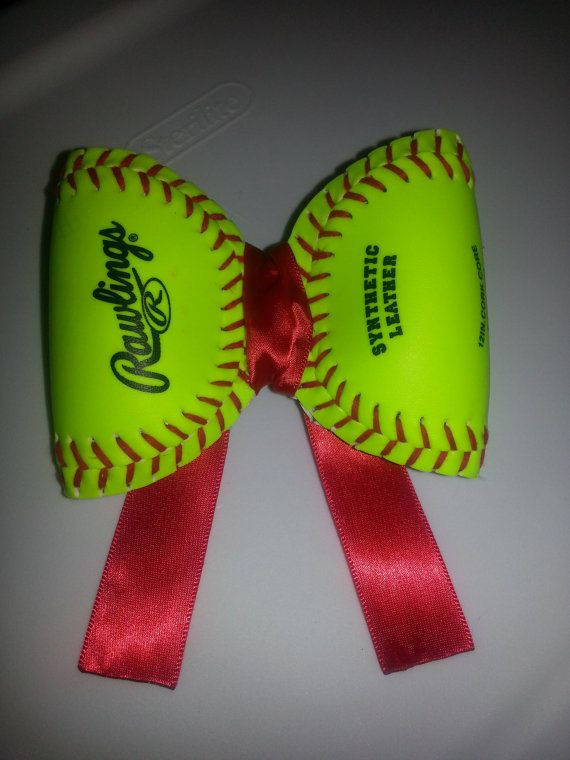 softball or baseball hair bow. by allisonbmitchell on Etsy, $12.20