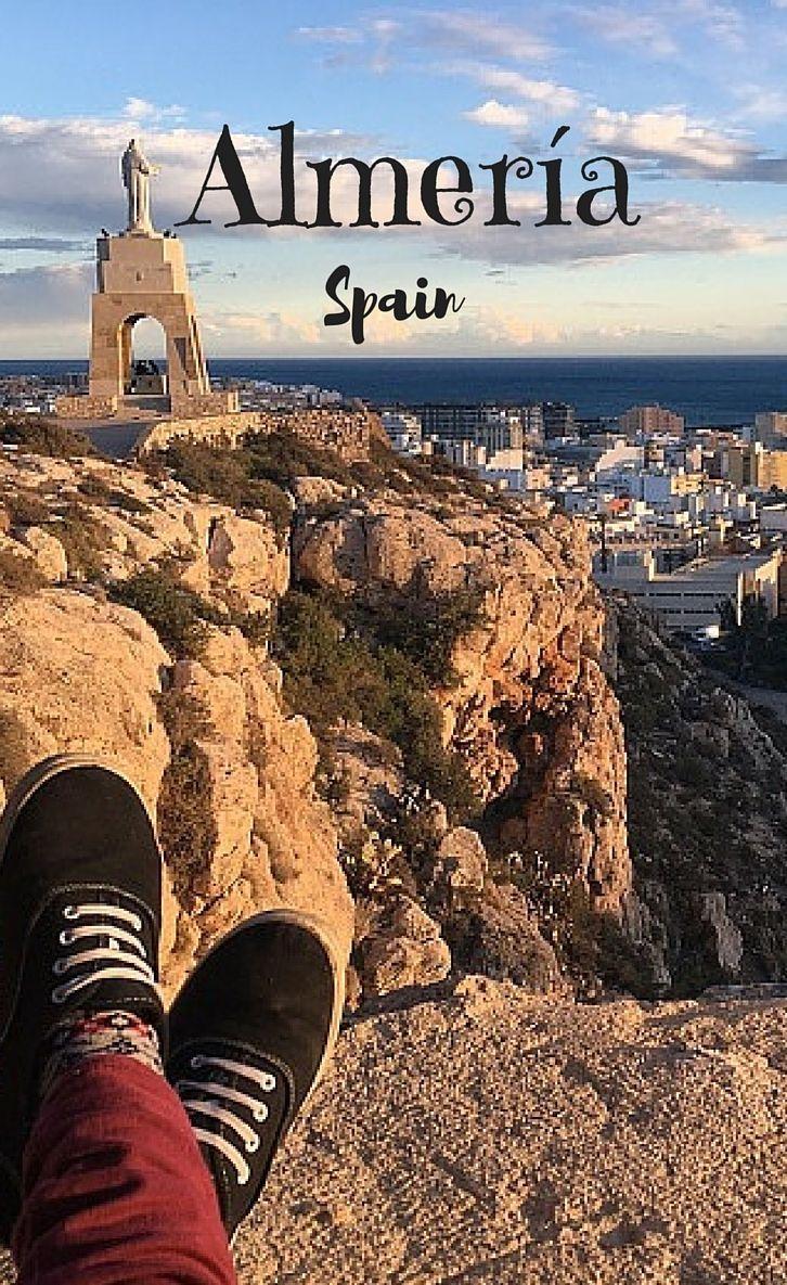 The statue of San Cristóbal, The Alcazaba, Almería, Spain #Spain #Almería #Food
