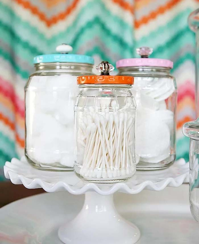 upcycled pickle jars