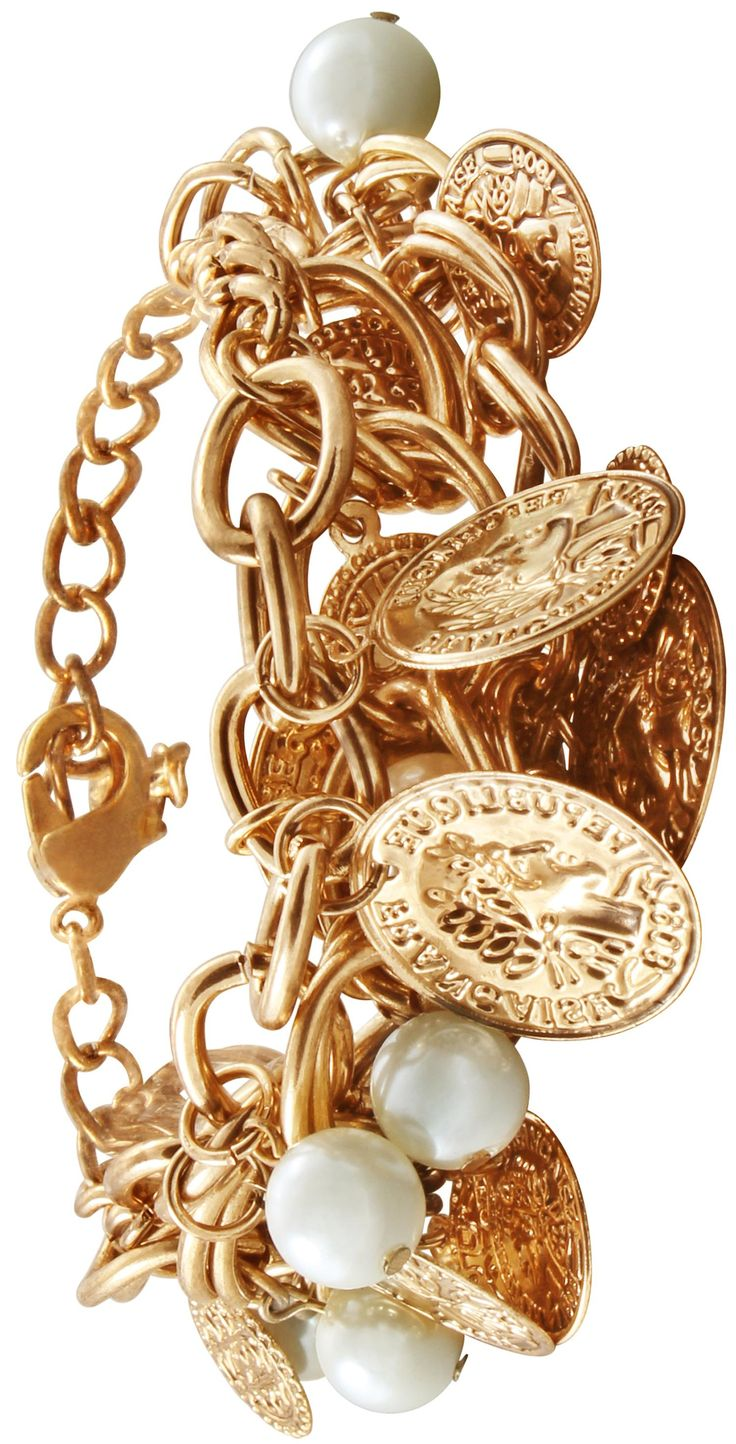 Bijou Brigitte  Armband - Golden Penny