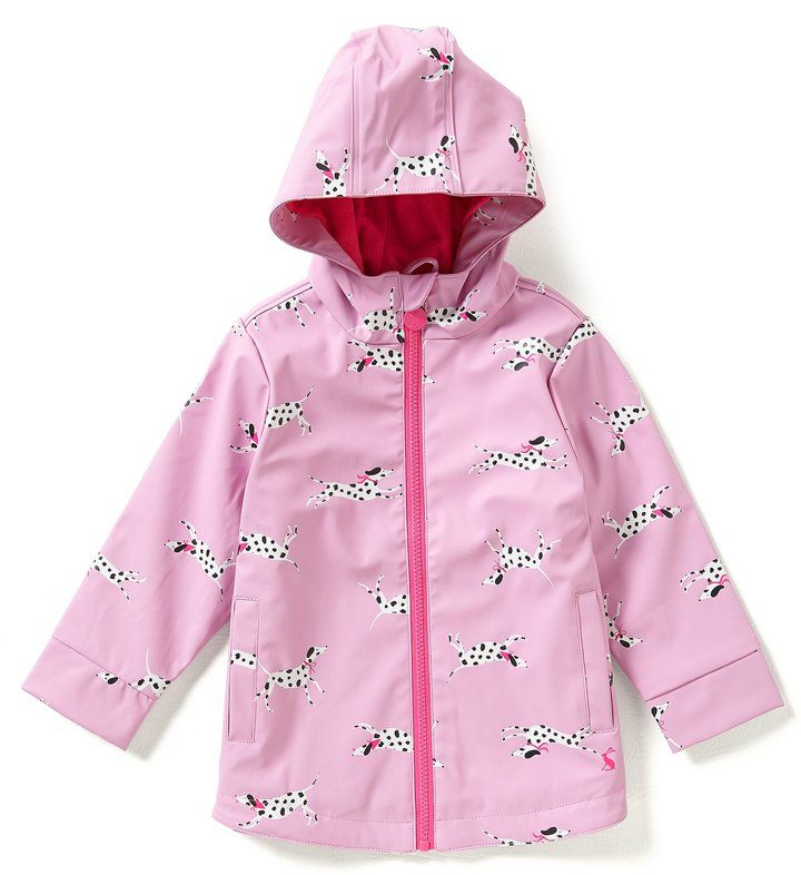 Joules Little Girls 1-6 Rain Dance Rain Coat