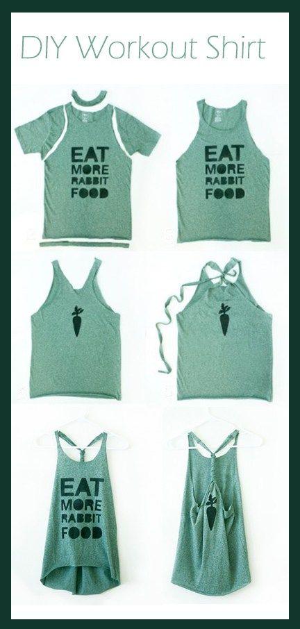 DIY Workout Shirt – Crafts