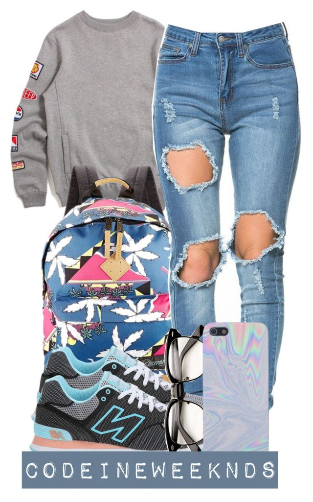 """8:16:15"" by codeineweeknds ❤ liked on Polyvore featuring 10.Deep, Eastpak and New Balance Classics"