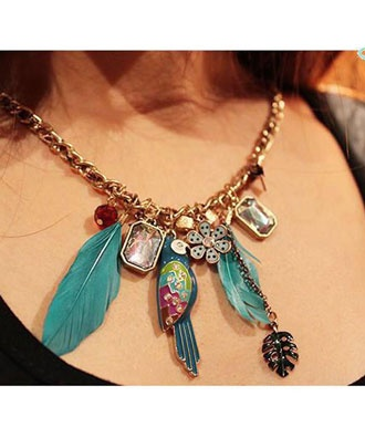 Styonal Feather Charm necklace .......