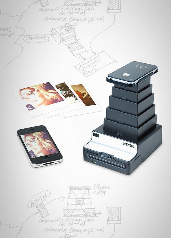 Transform your digital iPhone images into real instant photographs