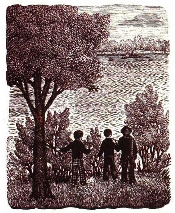 Иллюстрация к «Приключениям Тома Сойера» Марка Твена