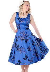 Blue Butterfly Jasmine, Kellomekko - Lady Vintage