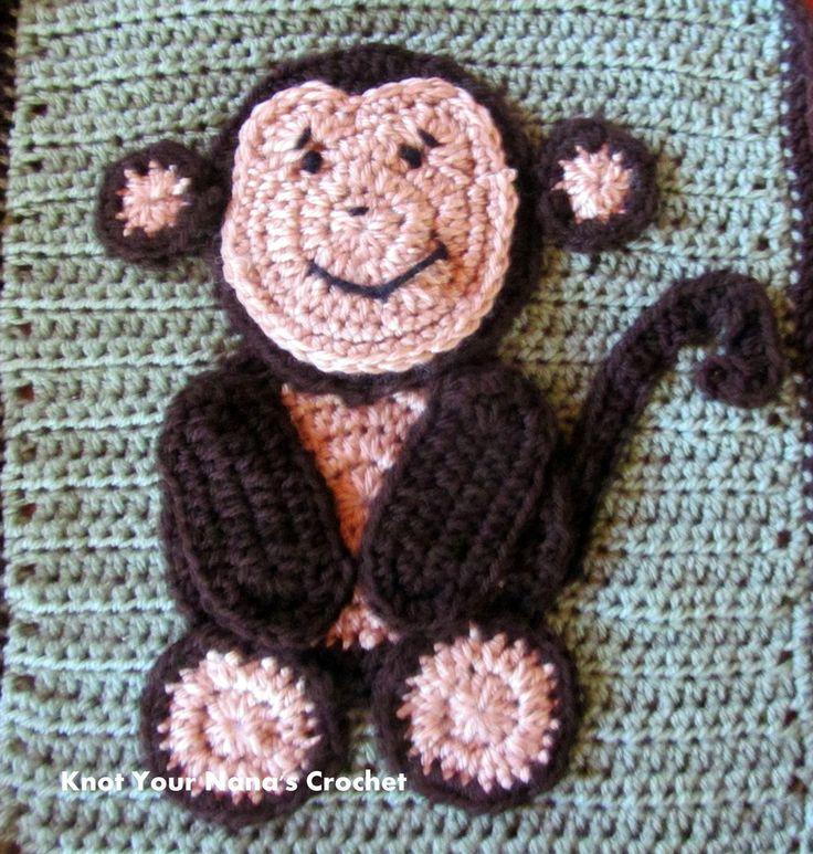 Crochet Animal Appliques Tiger Applique Animal