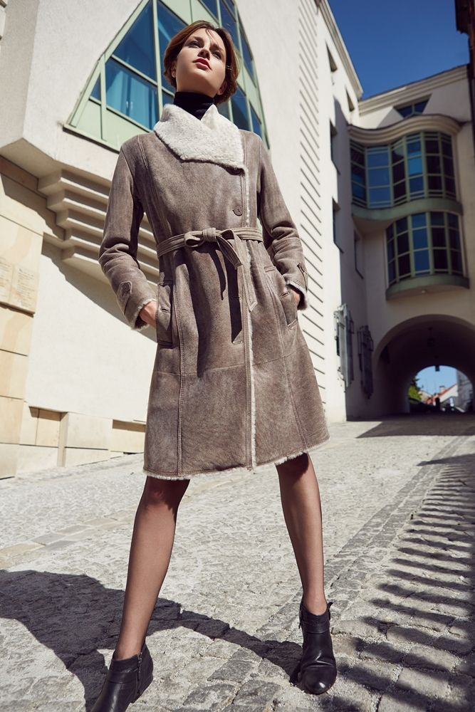 Kożuch damski model: 2020 kolor: murano AL - kożuchy płaszcze wełniane - szycie odzieży skórzanej Głoda