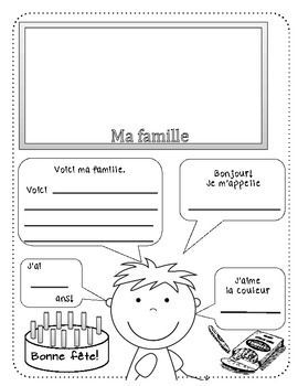 All about me (Tout au sujet de MOI!) - FRENCH:
