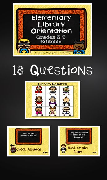 This is a fun PowerPoint game to use with your students at the beginning of the school year. The game has 18 questions and review library vocabulary and rules.  The questions can be edited.