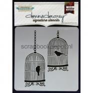 Donna Downey Signature Stencils 8.5x8.5inch - Bird Cages