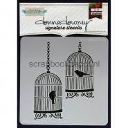 Donna Downey Signature Stencils 8.5x8.5inch - Bird Cages