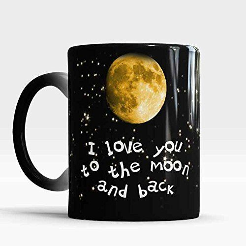 I Love You to the Moon and Back mug, Color Changing Coffee Tea Mug, Sweet love mug, Gift for girlfriend, Gift for boyfriend, Romantic gift
