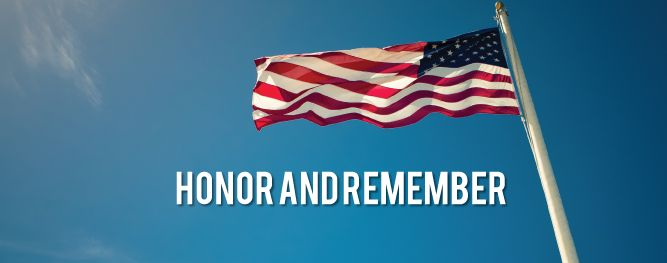 On Memorial Day, we remember the brave men and women who have given their lives for this country and are thankful for all those in military service.