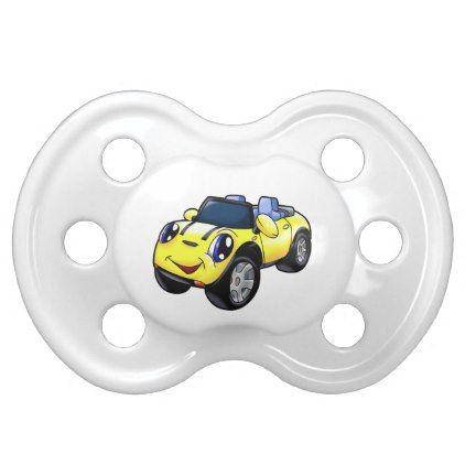 Yelow Car Car Cartoon Cars Toys Pacifier Zazzle Com Car Cartoon Toy Car Car Car