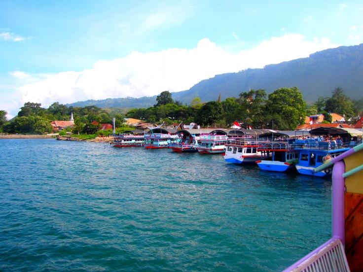 Samosir island on Sumatra