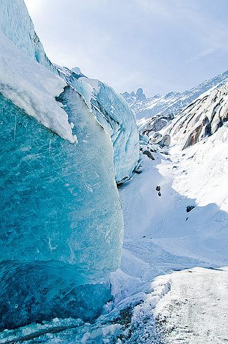 The Mer de glace (Sea of Ice) , Chamonix, France