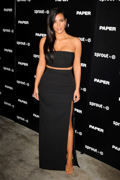 Kim Kardashian Long Skirt - Kim Kardashian Clothes Looks - StyleBistro
